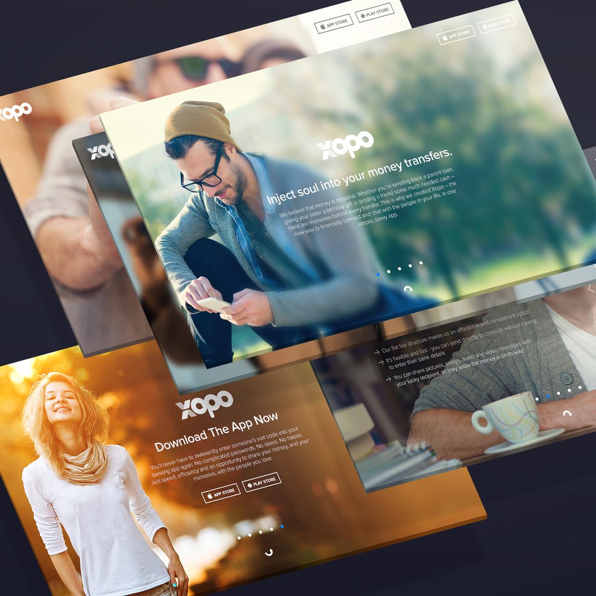 Landing Page: Xopo